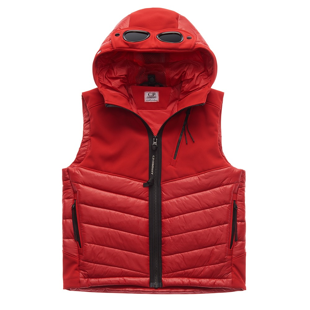 C.P. Company Undersixteen - Mixed Fabric Shell Gilet
