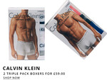Calvin Klein Triple Pack Boxer Deal At Oxygen Clothing