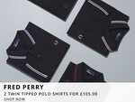 Fred Perry Twin Tipped Polo Shirt Deal At Oxygen Clothing
