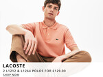 Lacoste Polo Shirt Deal At Oxygen Clothing