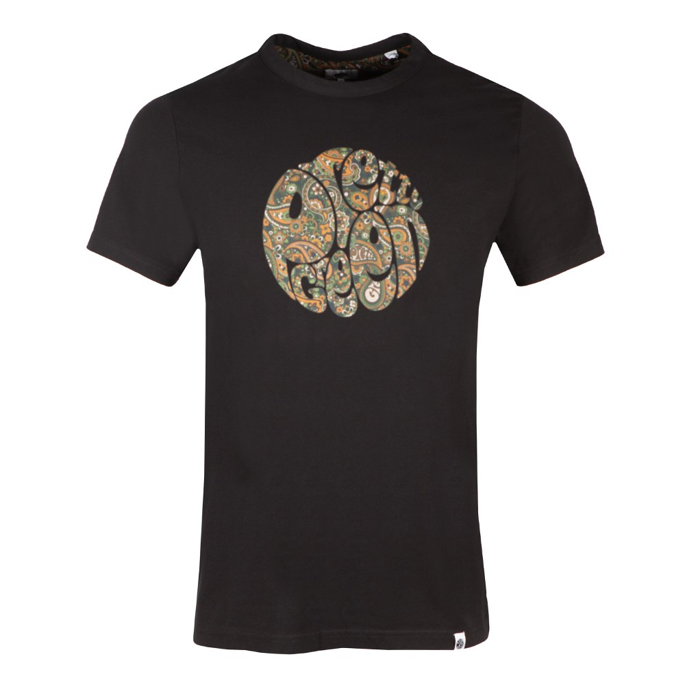 Pretty Green - Paisley Print Logo T-Shirt