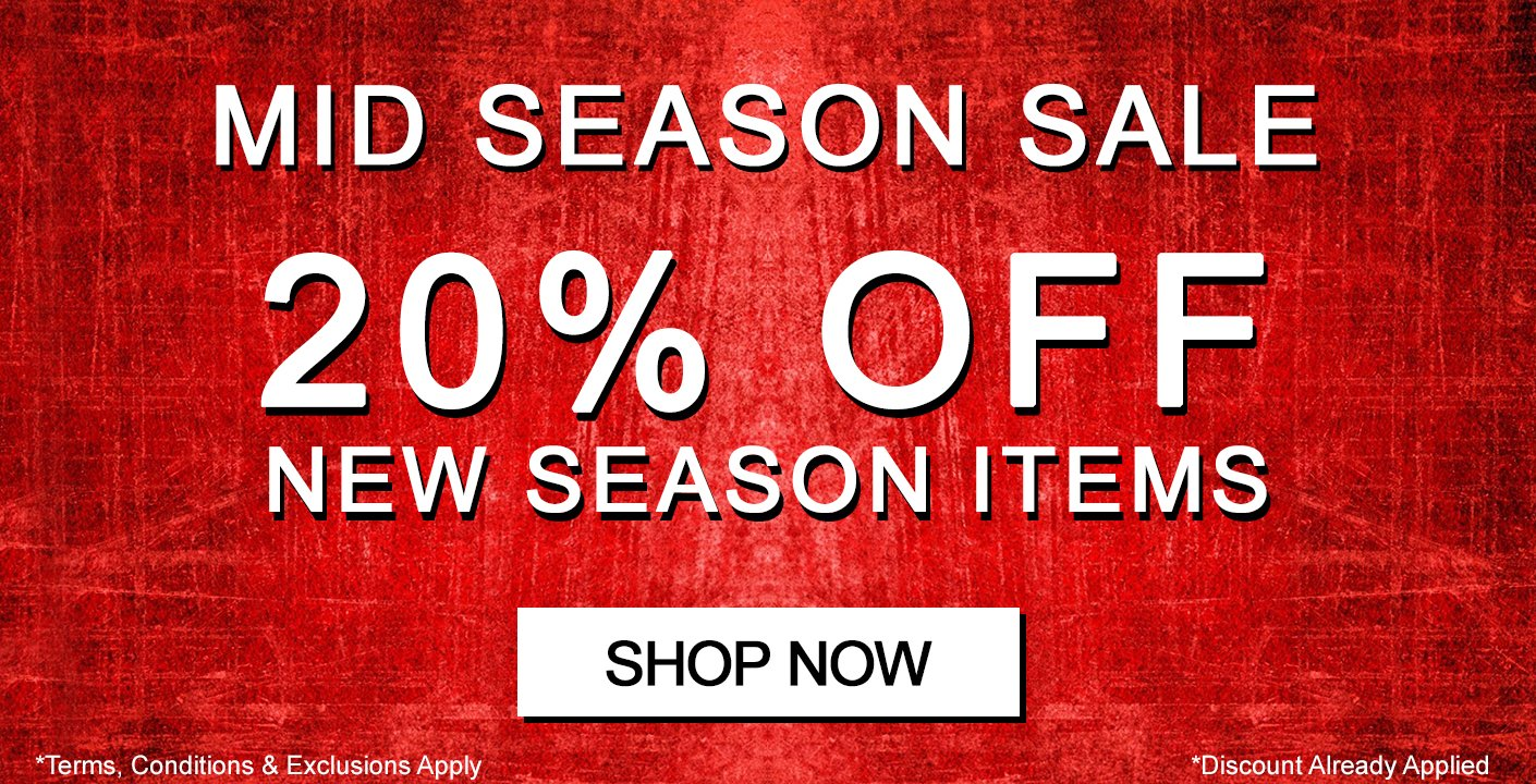 Mid Season Sale - 20% OFF New Season Items