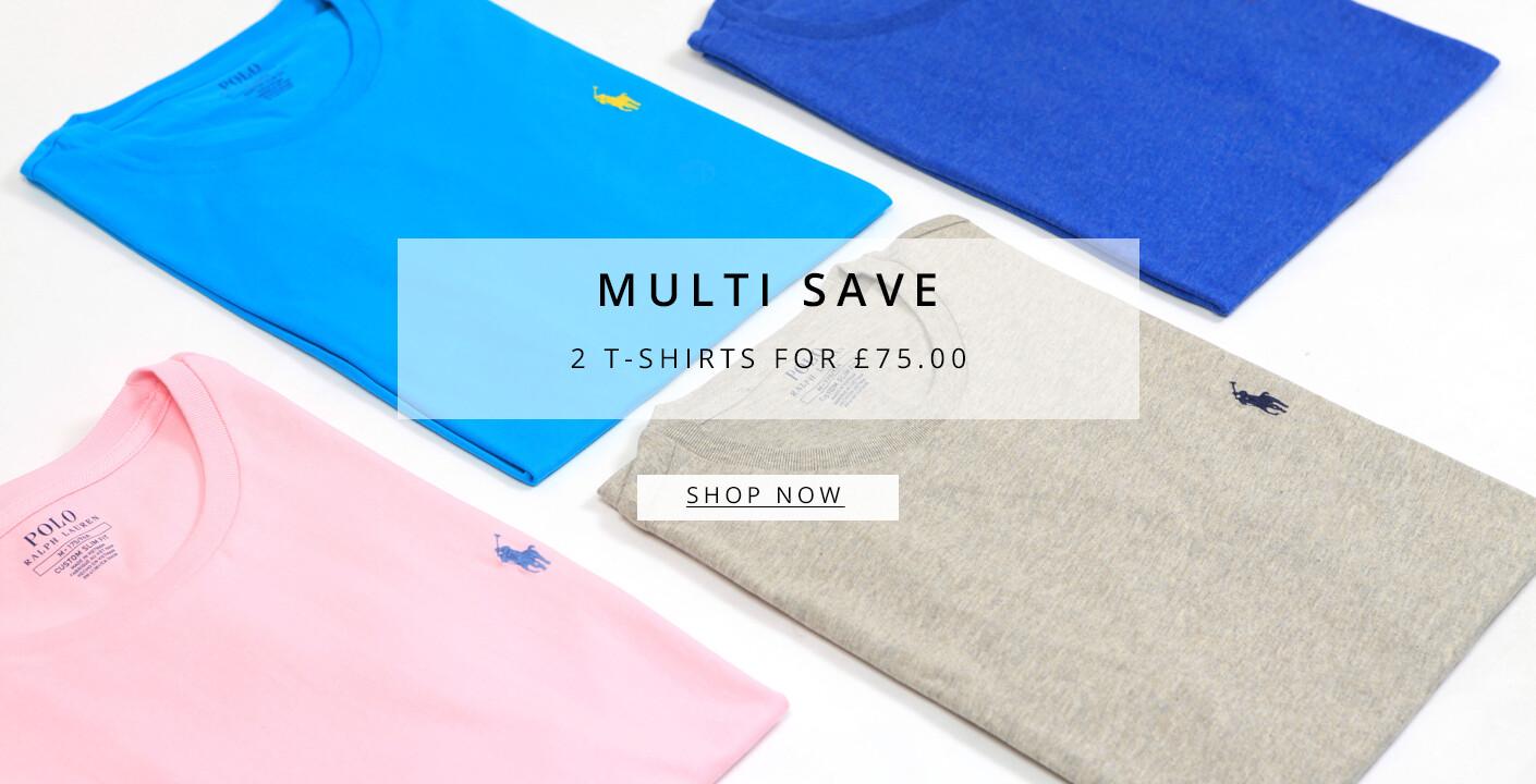 Mens Ralph Lauren 2 T-Shirts For £75.00