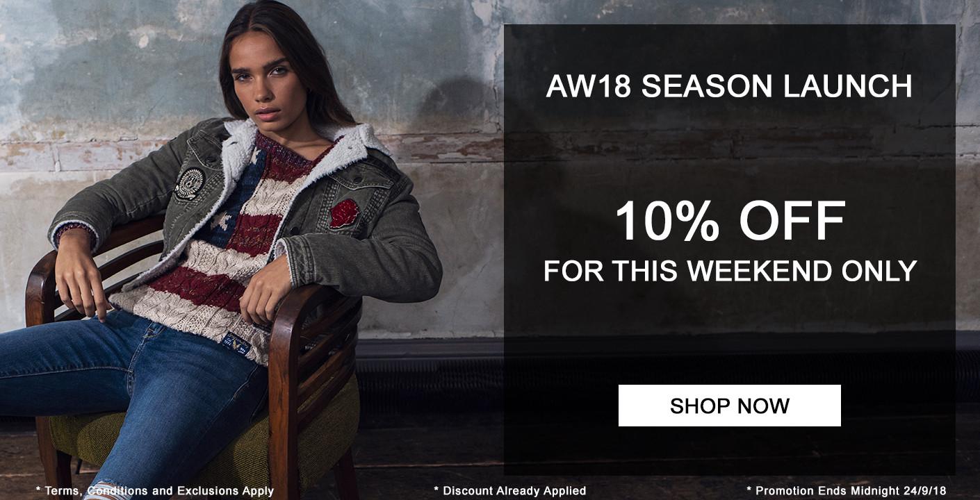 AW18 Season Launch - 10% OFF