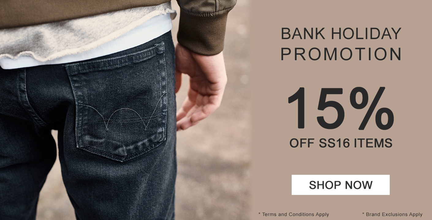 Get 15% OFF With Our Bank Holiday Promotion
