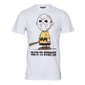 Trainer Spotter death to everyone charlie brown tshirt at masdings.com