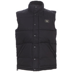 Fred Perry Black quilted gilet at masdings.com