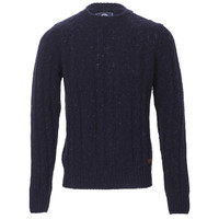 Franklin Marshall Fleck Knitted Crew Jumper at masdings.com