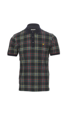 Lyle & Scott Allover Scotts Green Tartan Polo