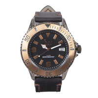 Ice watch leather strapped watch