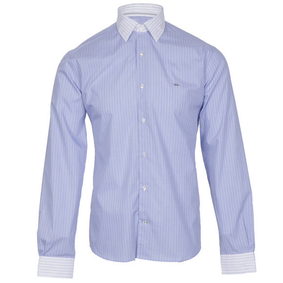 Lacoste white collar shirt