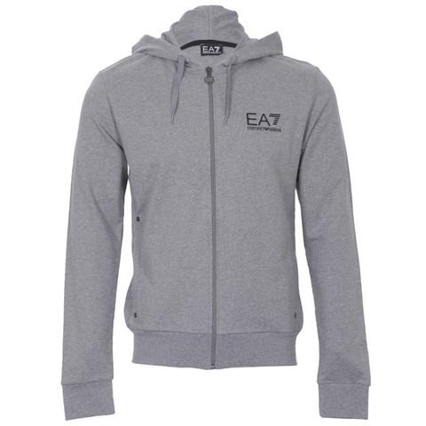 EA7 grey zip through hoody at Masdings.com