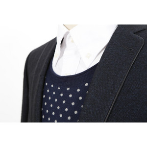 Gant white shirt, J Lindeberg knit and Remus blazer