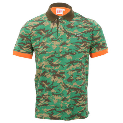 Lacoste Live Camouflage Polo at Masdings.com