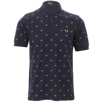 Fred Perry laurel print polo at masdings.com