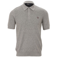 Fred Perry knitted dot pattern polo at masdings.com