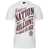 Known Nation text t-shirt at masdings.com