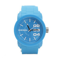 Diesel blue rubber watch at masdings.com
