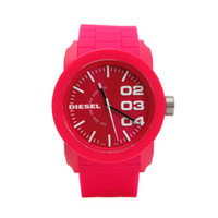 Diesel Red rubber watch at masdings.com
