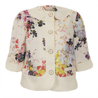 Ted Baker Zohe Summer Bloom Print Jacket at masdings.com