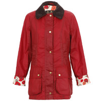 Barbour Print Beadnell Wax Jacket at masdings.com