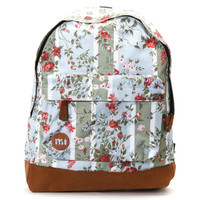 Mi Pac Blue Red Floral All Over Print Backpack