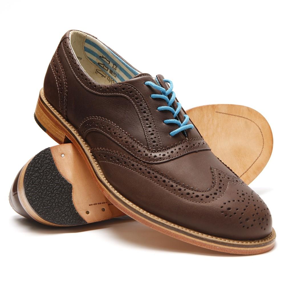 9854e9f60cb3c9 J Shoes Mens Brown J Shoes Charlie Dark Brown Brogue main image. Loading  zoom