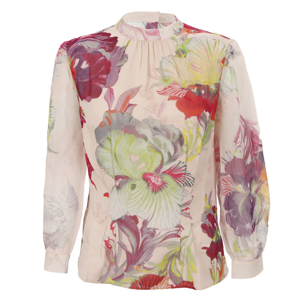 Ted Baker Womens Pink Ted Baker Maise Treasured Orchid Print Top   main image