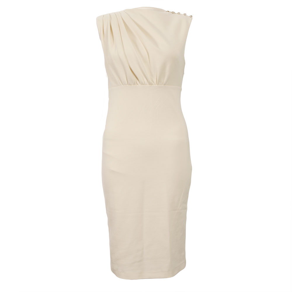 17481e169 Ted Baker Womens Off-White Ted Baker Bridie Sculpted Pleated Dress main  image. Loading zoom
