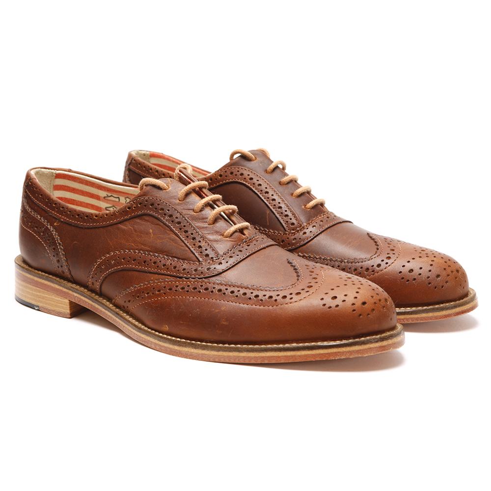 01de8463904f14 J Shoes Mens Brown Charlie Brogue main image. Loading zoom