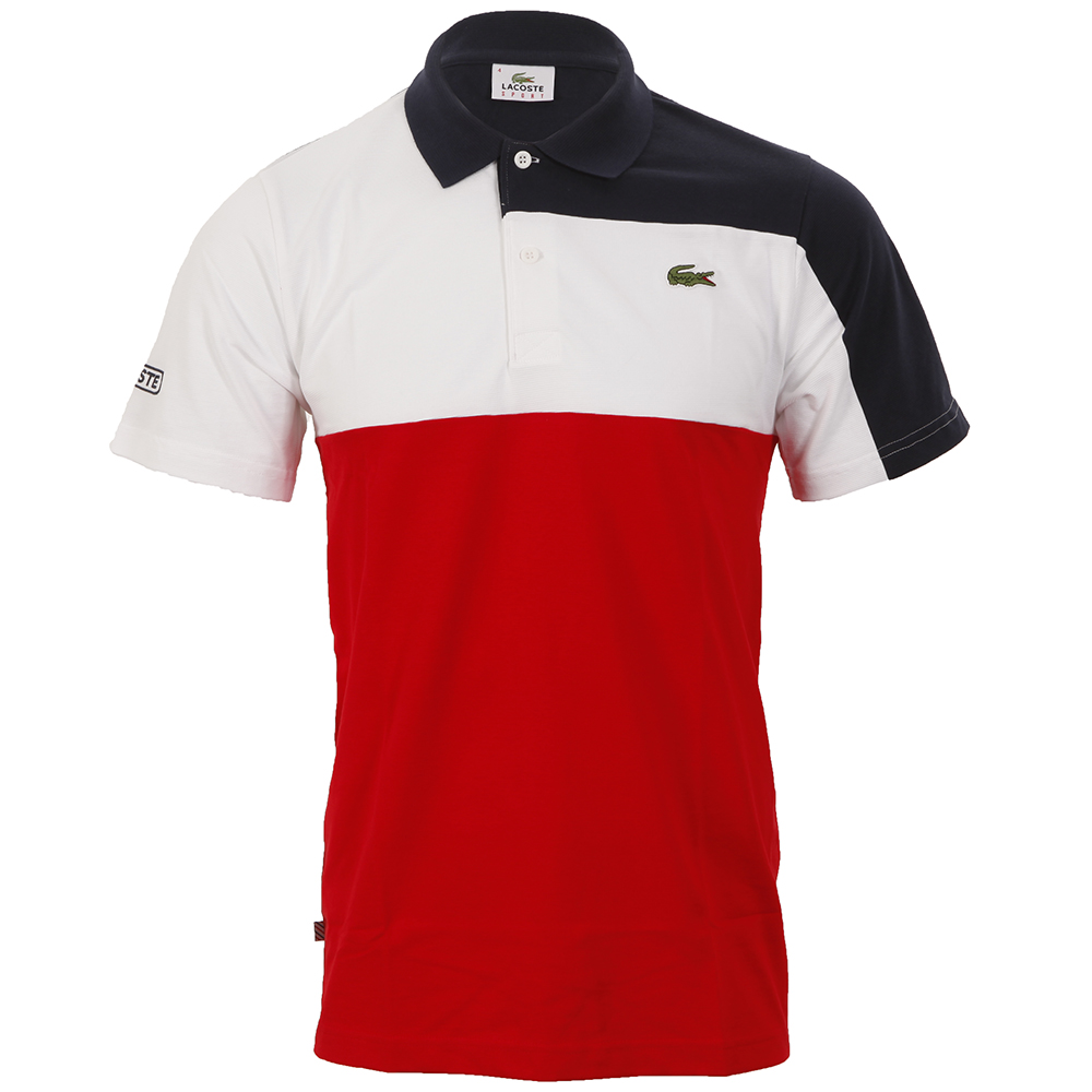 023cf9aed Lacoste Sport YH9381 Navy/White/Red Polo Shirt | Masdings