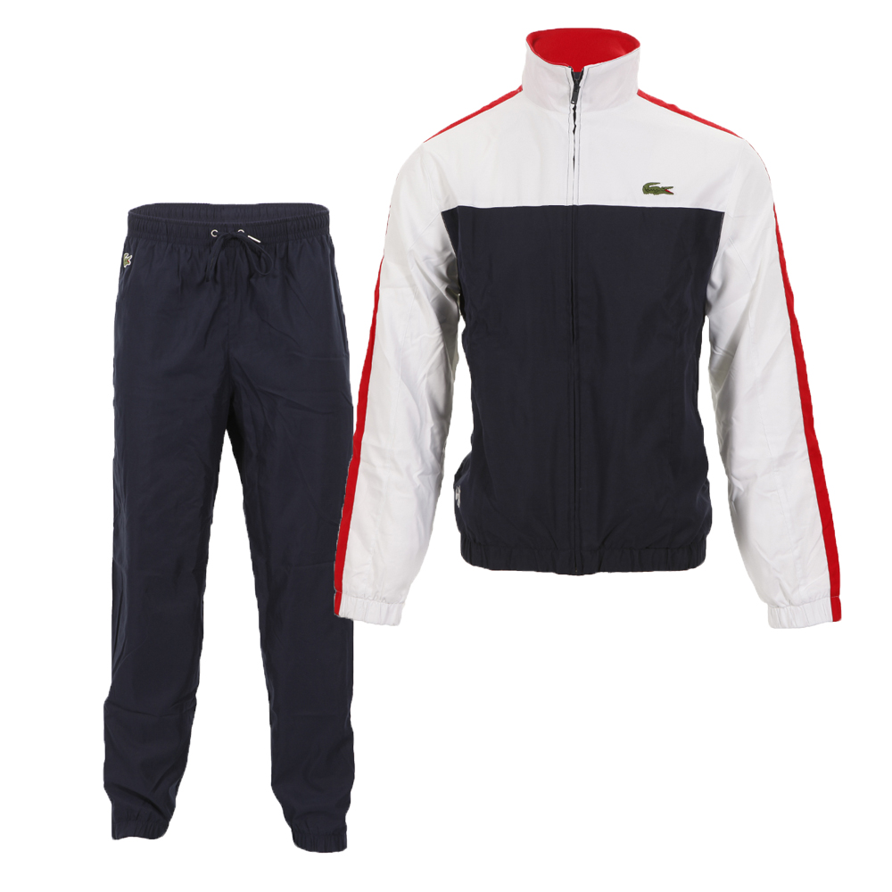0d66bbb09d4a Lacoste Sport Mens Multicoloured Lacoste WH9378 White Navy Red Tracksuit  main image. Loading zoom