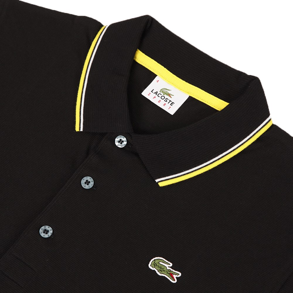 9cf74aa578 Mens Black Lacoste YH7900 Noir Tipped Polo Shirt