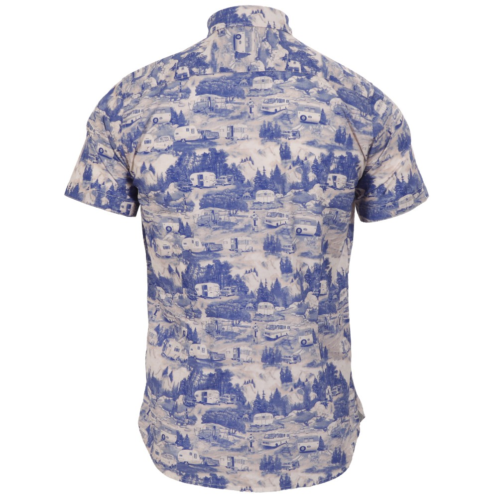2c742013d7289f ... Blue Ted Baker SS Caravan Print Shirt main image. Loading zoom