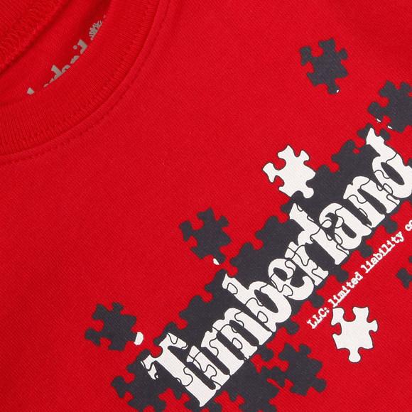 Timberland Boys Red Timberland T95646 Crew Tee main image