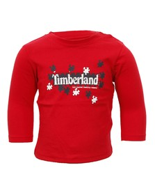 Timberland Boys Red Timberland T95646 Crew Tee