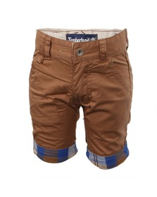 Timberland Boys Brown Timberland T04680 Chino Short