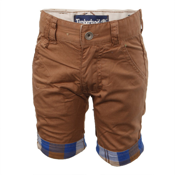 Timberland Boys Brown Timberland T04680 Chino Short main image