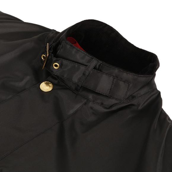Barbour International Mens Black Barbour Black A7 Bright Brass International Jacket main image