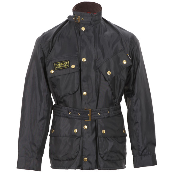 Barbour International Mens Blue Barbour Navy A7 Bright Brass International Jacket main image