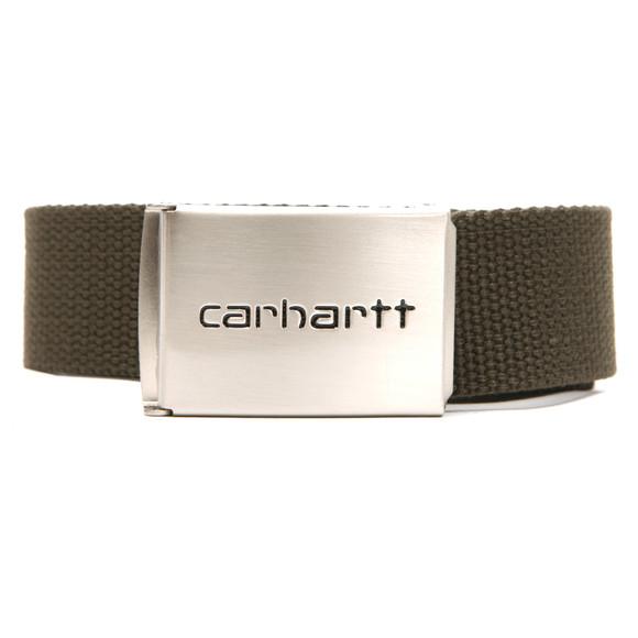 Carhartt Mens Green Clip Belt Chrome main image