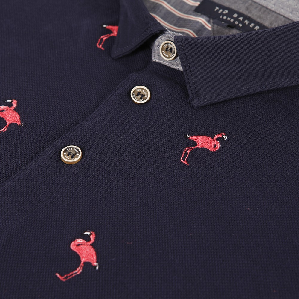 Ted Baker Flamingo Embroidered Polo Oxygen Clothing