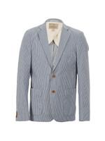 Scotch & Soda Blue/White Denim Stripe Blazer