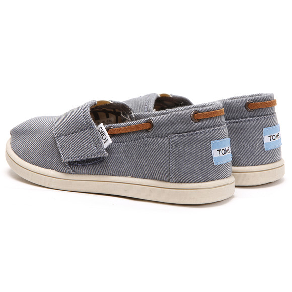 Toms Boys Blue Toms Classic Chambray Bimini Canvas main image