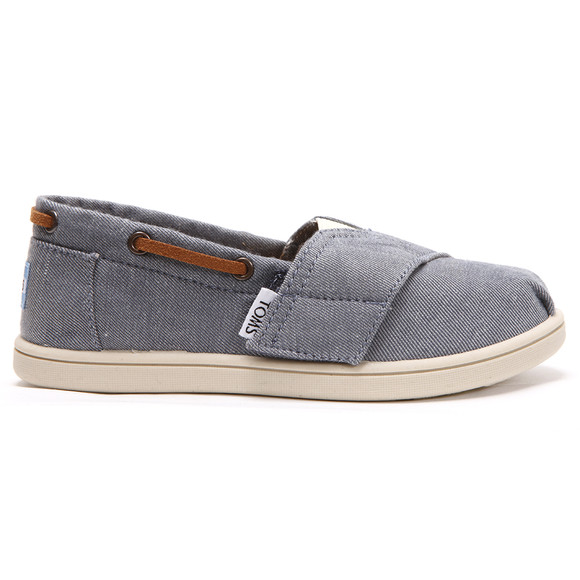 Toms Boys Blue Toms Classic Chambray Bimini Canvas