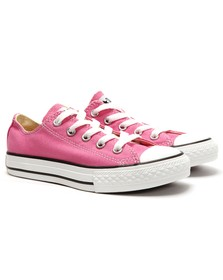Converse Unisex Pink Converse Kids All Star Ox in Pink