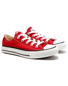 Converse Unisex Red Converse Kids All Star Ox in Red