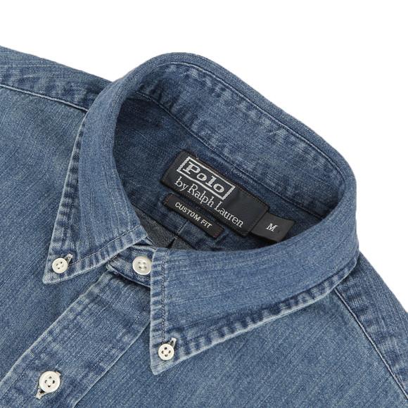 d063121c42 ... Polo Ralph Lauren Mens Blue Ralph Lauren Custom Fit Denim Shirt LS main  image ...