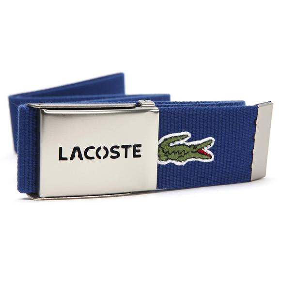 Lacoste Mens Blue Lacoste RC1287 Blue Fabric Woven Belt main image