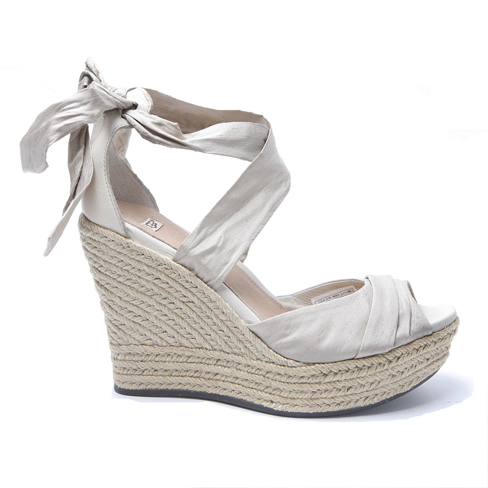 a00052f17d9 Womens Off-White Ugg Lucianna Wedge Sandal